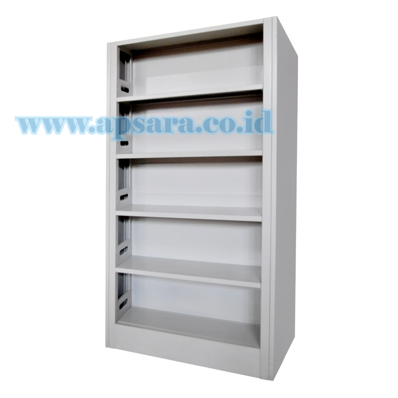 Shelving 5 Shelf Steel 1 Side Backplate  (Rak Buku 1 Muka Backplate)